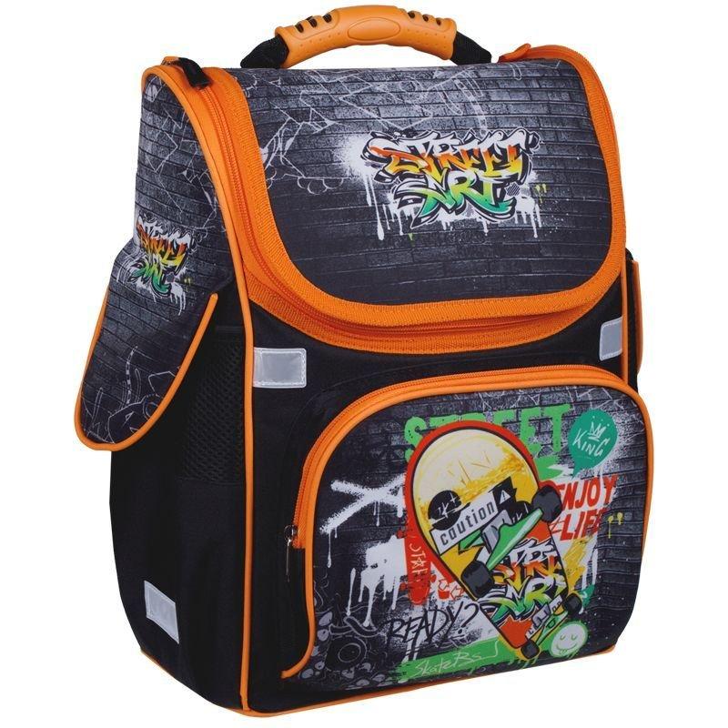 Ранец ArtSpace Junior Street art 37*28*21см 1 отделение 3 кармана анатомическая спинка