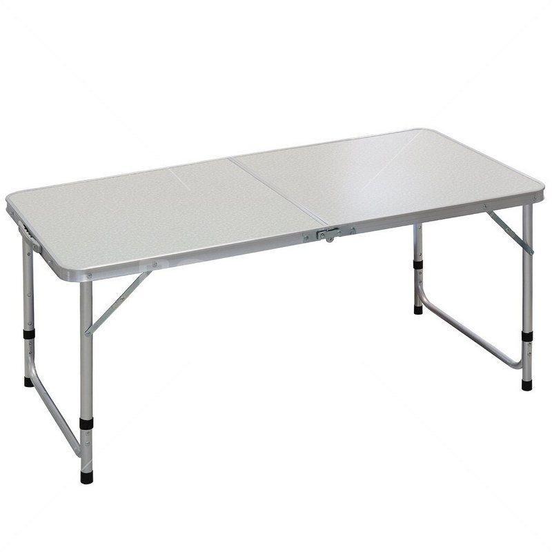 Стол складной YTFT044-grey серый 120х60х55.5/68.5см