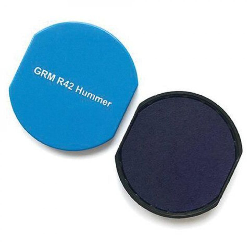 Подушка сменная  для круглой печати GRM 46042 синяя