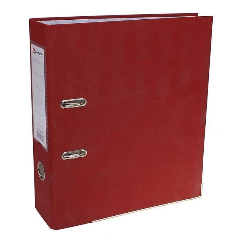 Папка-регистратор 50мм Lamark бумвинил карман бордовый металл