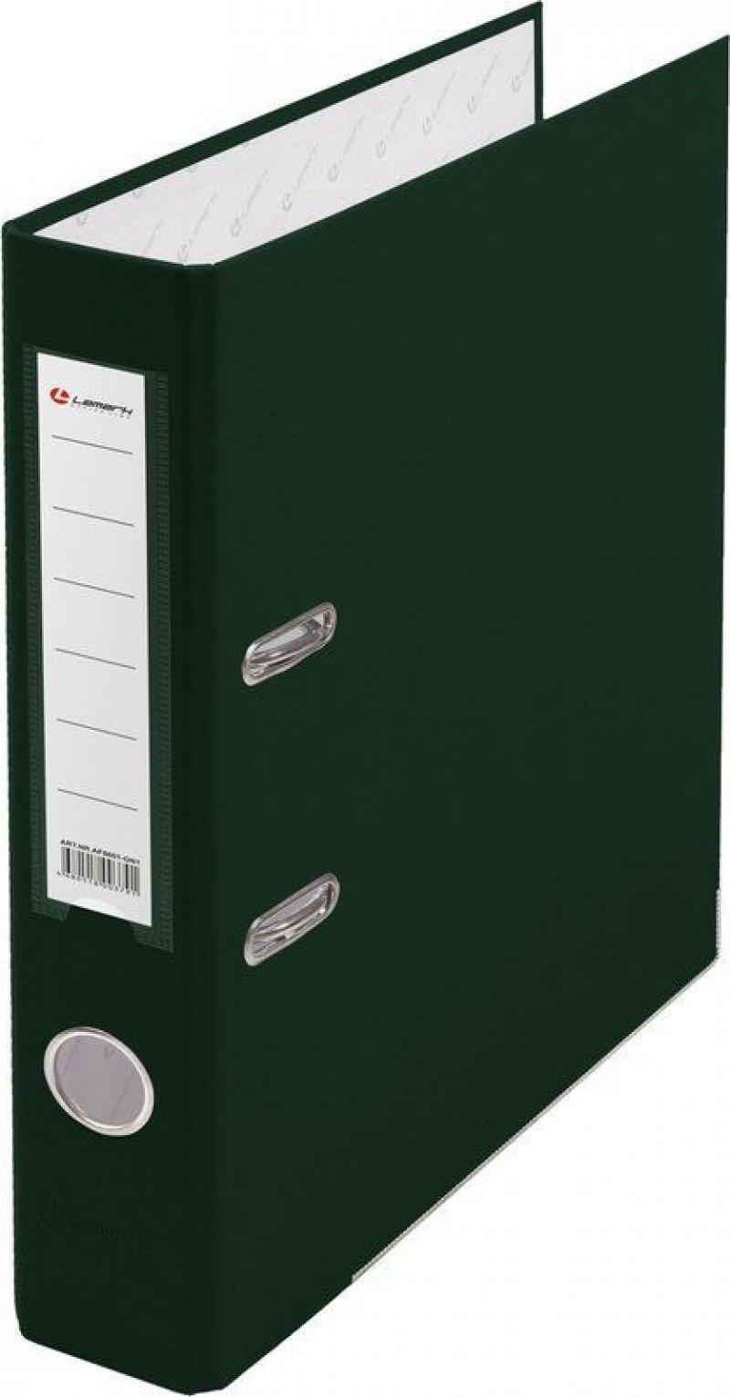 Папка-регистратор 50мм Lamark бумвинил карман зеленый металл