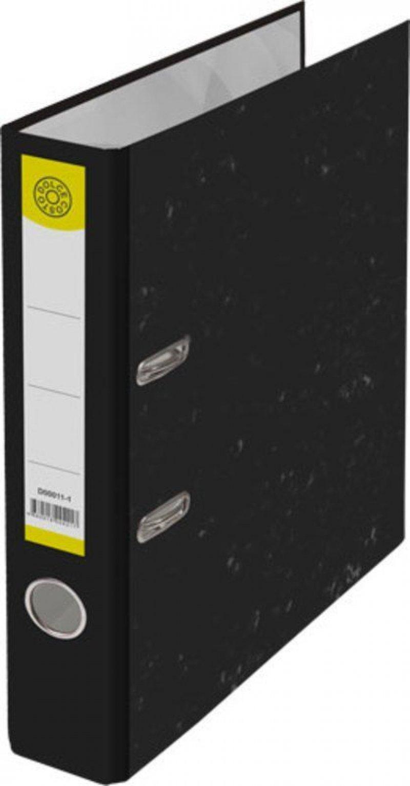 Папка-регистратор 50мм Dolce Costo мрамор черная