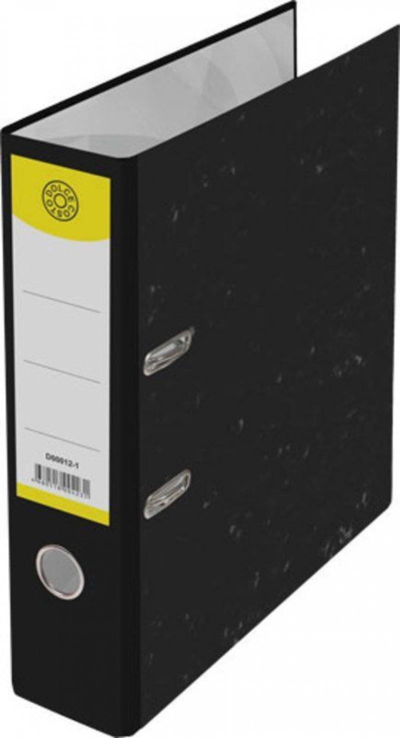 Папка-регистратор 75мм Dolce Costo мрамор черная