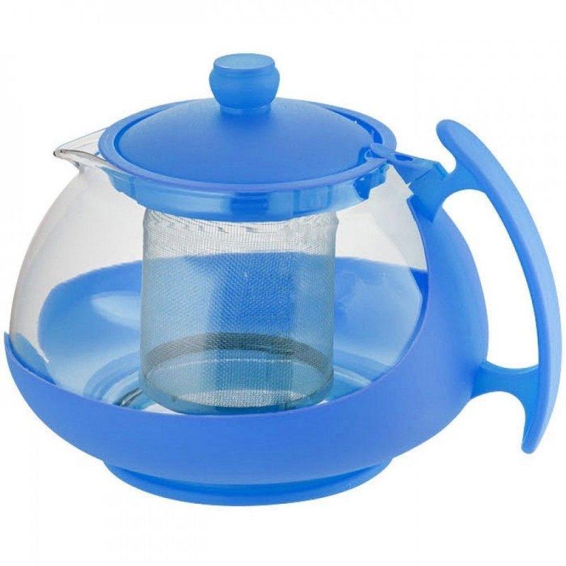 Чайник заварочный 1250мл с фильтром стекло пластик