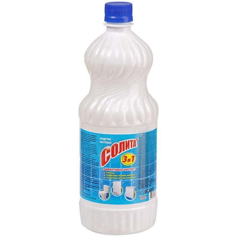 Чистящее средство Солита для удаления накипи 1000г жидкое