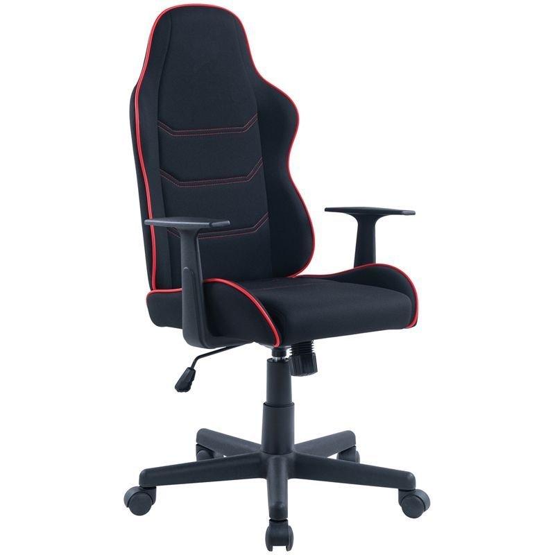 Кресло игровое Helmi HL-S09 Red line ткань черная/красная