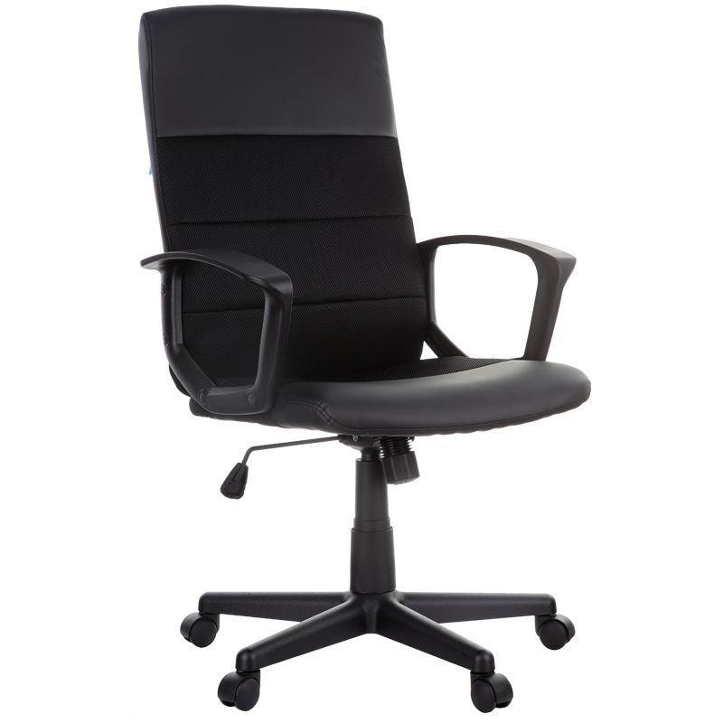 Кресло руководителя  Helmi HL-E26 Segment экокожа/ткань черное