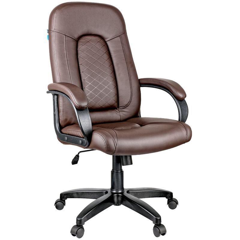 Кресло руководителя Helmi HLBrilliance c мягкими подлокотниками экокожа коричневое