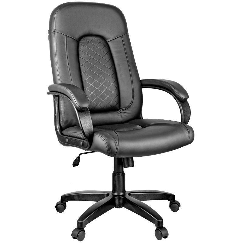 Кресло руководителя Helmi HLBrilliance c мягкими подлокотниками экокожа черное
