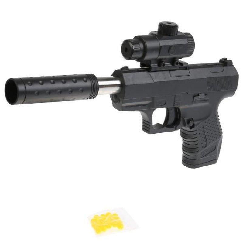 Пистолет  с лазерным прицелом с глушителем в пакете