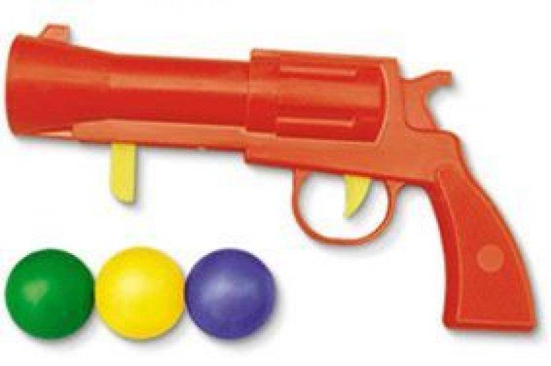 Пистолетик пластмассовый с шариками в пакете