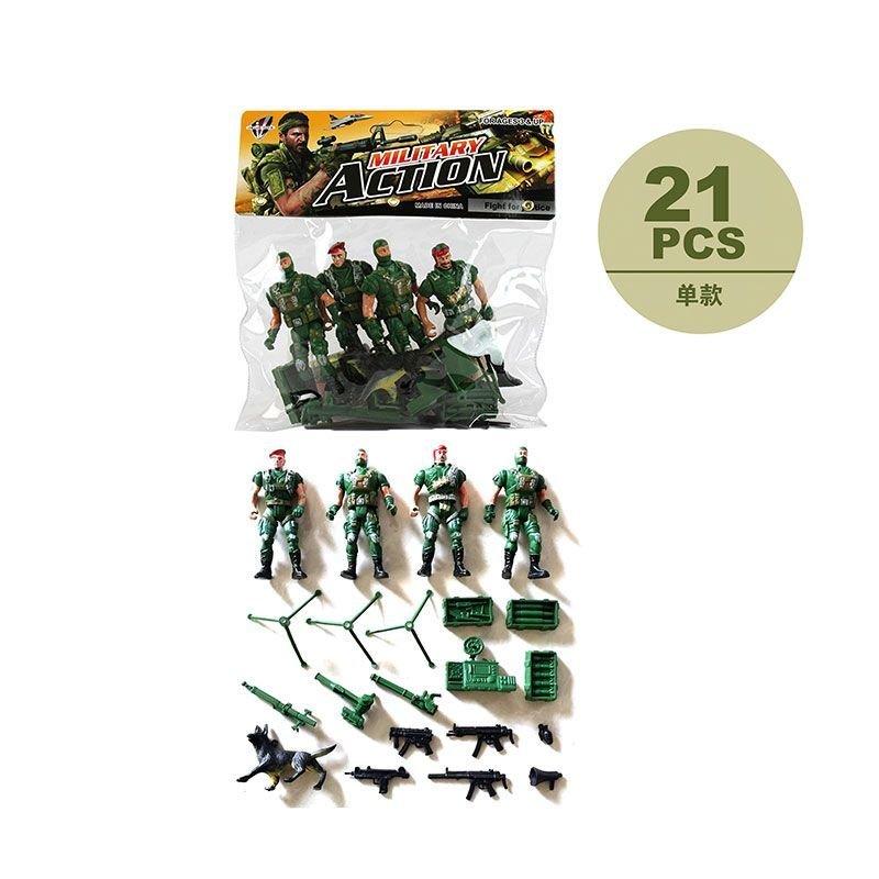 Набор военный 4 солдата с оружием в ассортименте