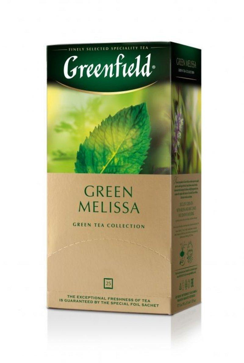 Чай Greenfield Melissa 25шт в пакетиках зеленый с мятой и  мелиссой