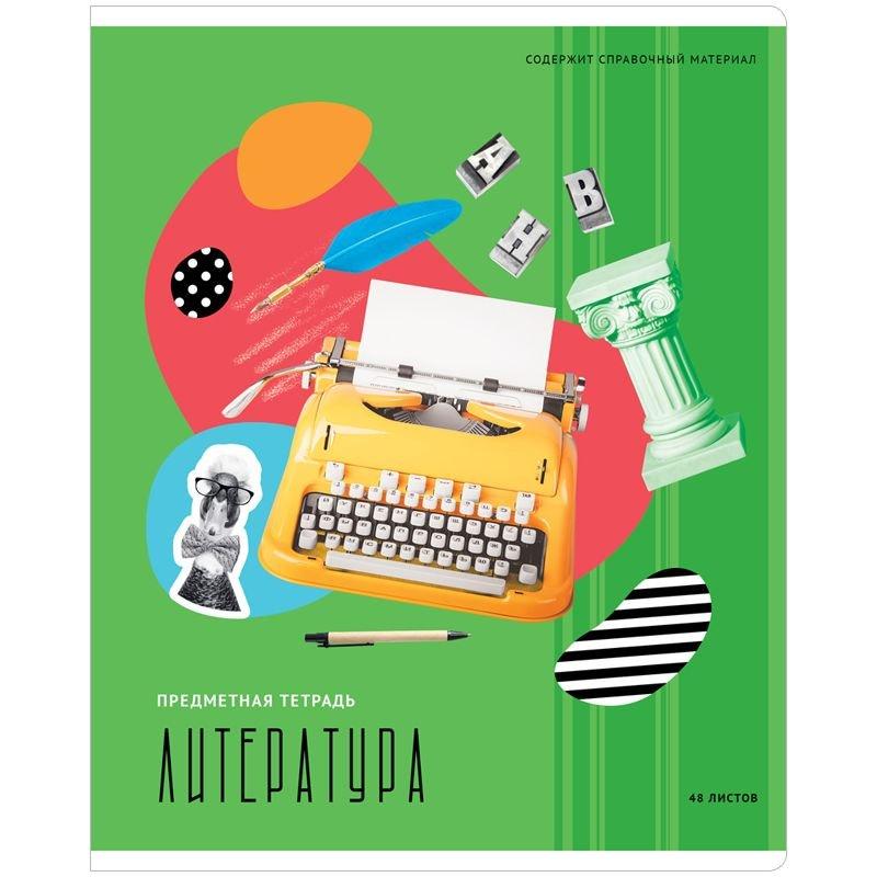 Тетрадь 48л Литература Калейдоскоп ВД-лак