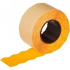 Этикет-лента 26x12мм волна оранжевая
