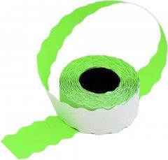 Этикет-лента 26x16мм волна зеленая