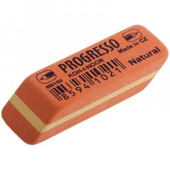 Ластик Koh-i-Noor Progresso 6821/80 41х14х8мм прямоугольный оранжевый с полосой