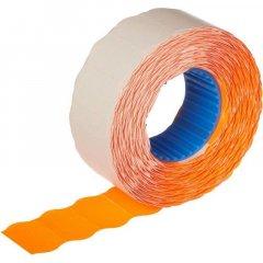 Этикет-лента 26x16мм волна оранжевая