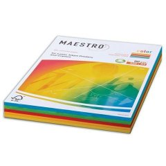 Бумага IQ/Maestro Color А4 80г/м2 250л микс (5цв.х50л) интенсив