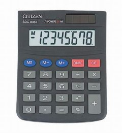 Калькулятор Citizen SDC-805 ВII 131х102мм 8 разр