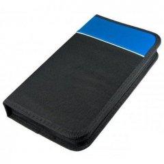 Портмоне CD/DVD Profi-Line 48 дисков двухсторон на молнии прямоугол матерч внеш.карман черный