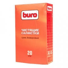 Чистящие салфетки сухие безворсовые Buro 20шт