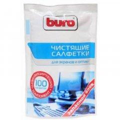 Чистящие салфетки для экранов и оптики Buro запасной блок 100шт