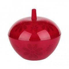 Сахарница 0,5л Соблазн с крышкой красная пластик