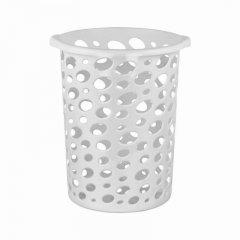 Корзина для мусора 12л пластик Сорренто серая