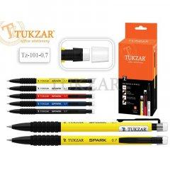 Карандаш механический 0,7мм Tukzar корпус пластиковый с ластиком