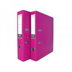 Папка-регистратор 50мм Index Colourplay ламинированная неоновая сиреневая арочный механизм