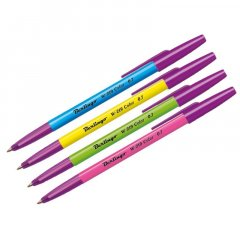 Ручка шариковая Berlingo W-219 Color 0,32мм ассорти синяя