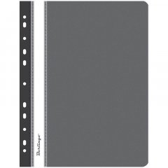 Папка с прозрачным верхним листом Berlingo с дополнительной перфорацией 180мкм черная