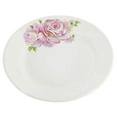 Тарелка 200мм Розовые розы мелкая фаянс