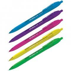 Ручка шариковая автомат Berlingo Triangle 110 RT  0,7мм трехгранный корпус синяя