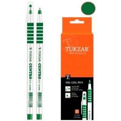 Ручка шариковая Tukzar Centro 0,7мм резиновый держатель игольчатый наконечник масляная зеленая