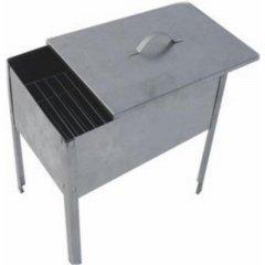 Мангал - коптильня Домашний Сундук + 6 шампуров 370мм в коробке