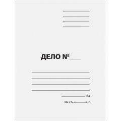 Папка картонная скоросшиватель Дело 300г/м2 белая немелованный картон