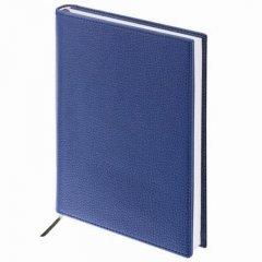 Ежедневник А5 недат Brauberg Favorite кожзам темно-синий